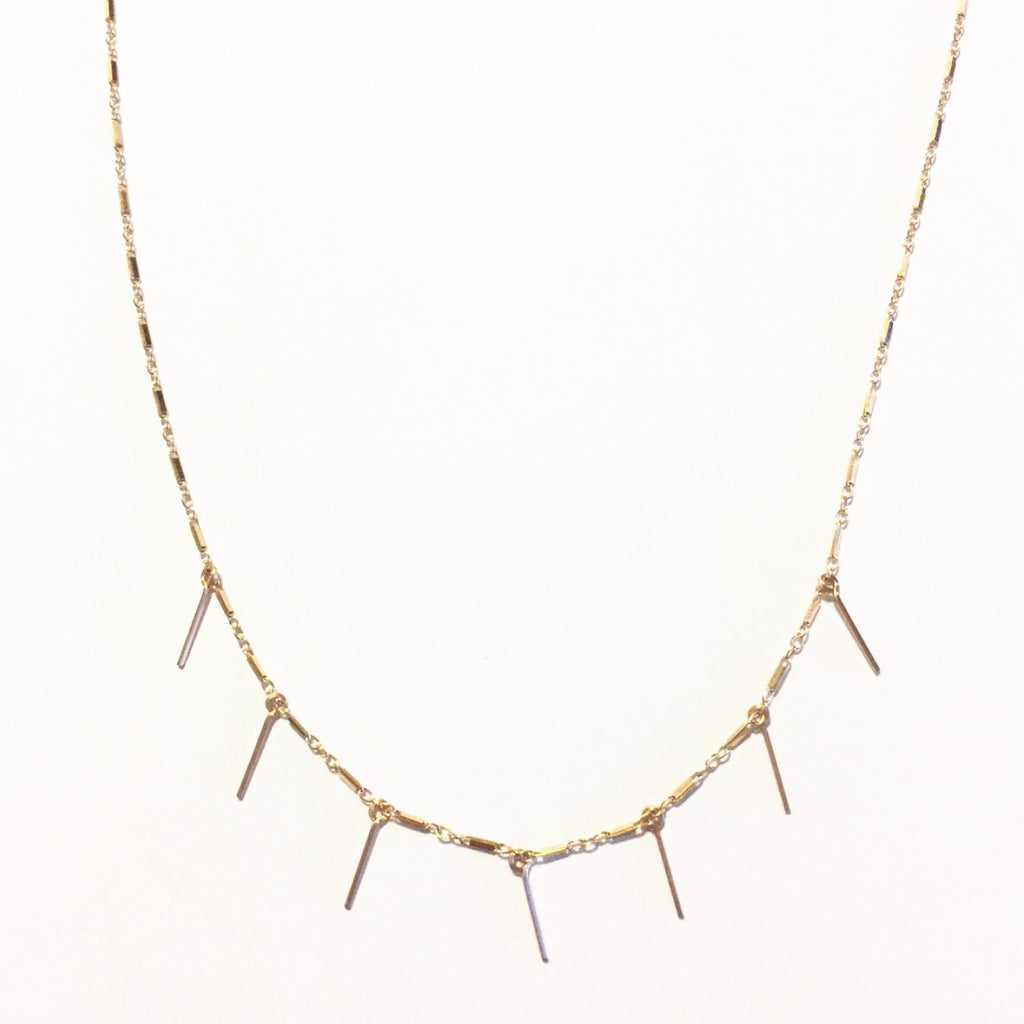 Fringe & Bar Choker Necklace