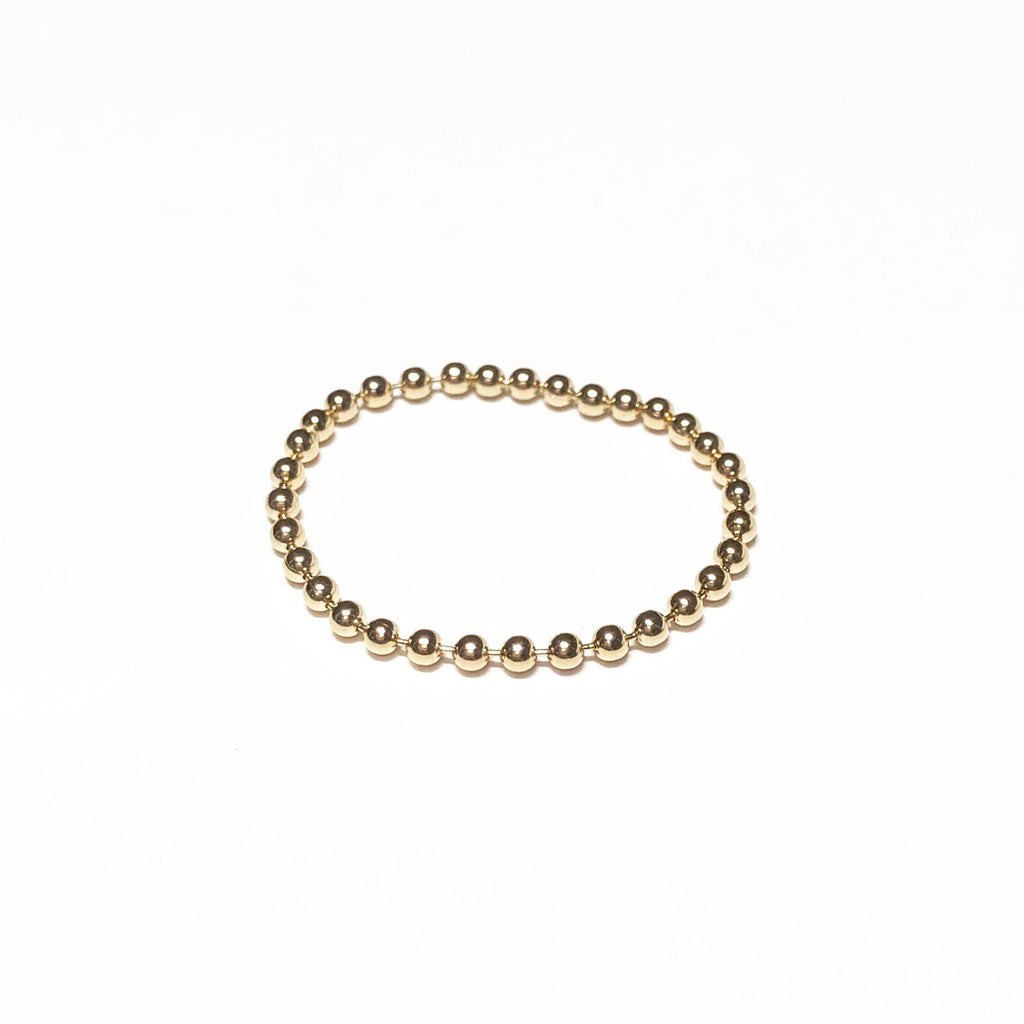 Beaded Ball Chain Ring