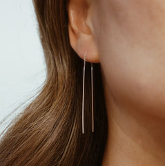 Threader Dangle Earring - Solid 14kt