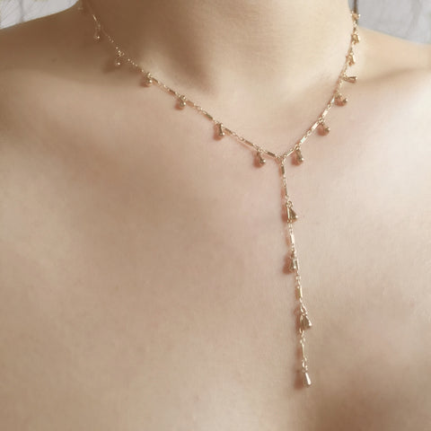 Dewdrop Full Lariat Necklace