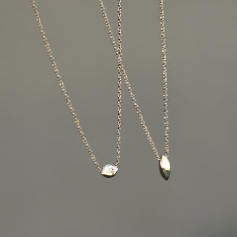 Marquise Gem Necklace - Solid 14kt