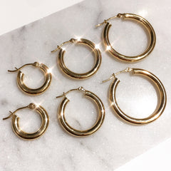 Biggie Hoop Earrings - Solid 14kt