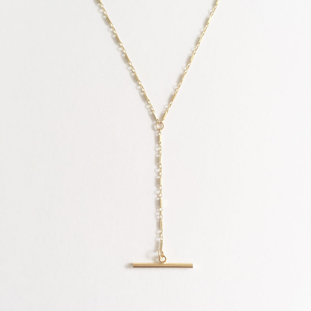Bar Chain Lariat Necklace