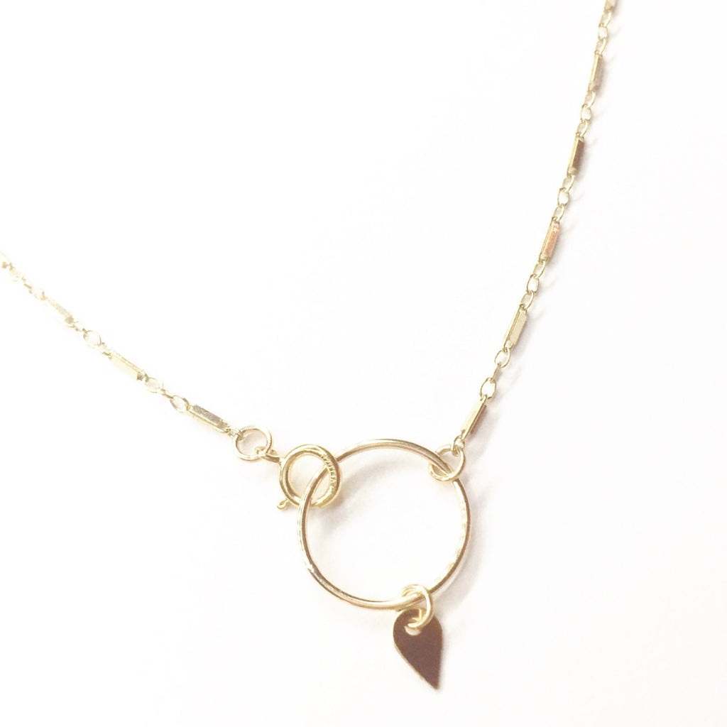 Pike Bar Chain Choker Necklace with Circle