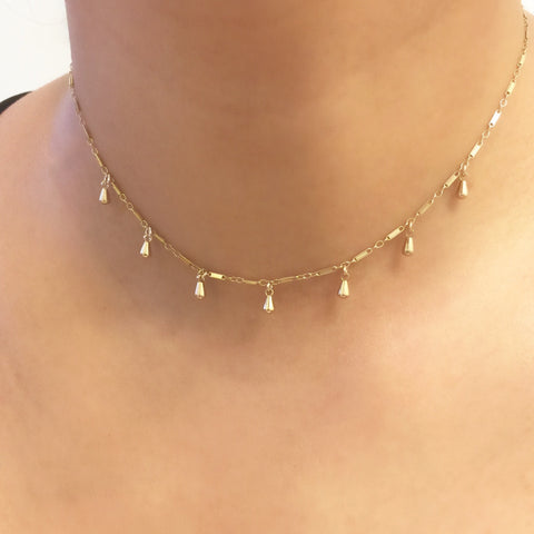 Lucky 7 Dewdrop Choker Necklace