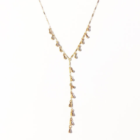 Cascade Dewdrop Lariat Necklace