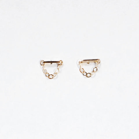 Sprinkles Drop Chain Stud Earrings