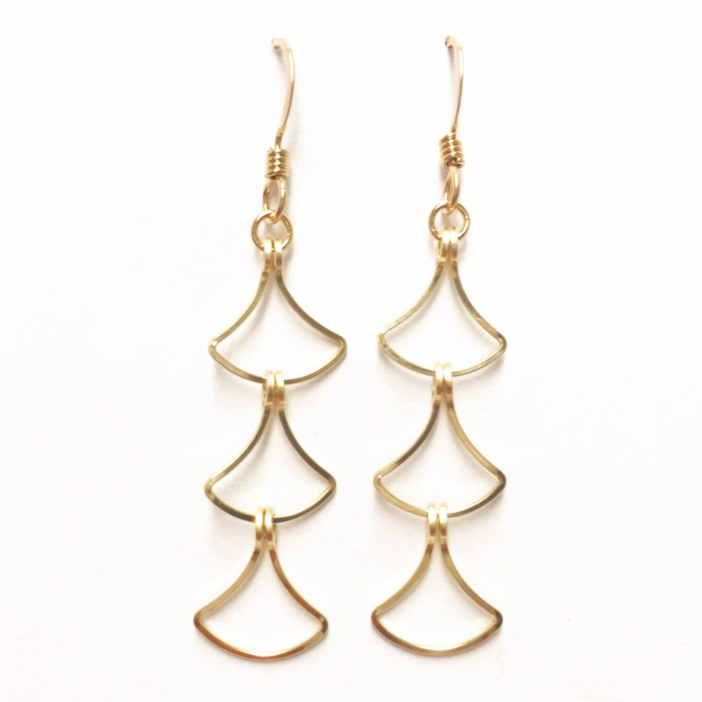 Triple Pendulum Dangle Earrings