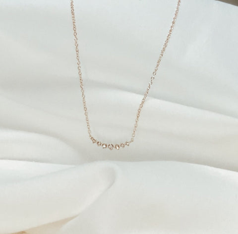 Arch Daimond Necklace - Solid 14k