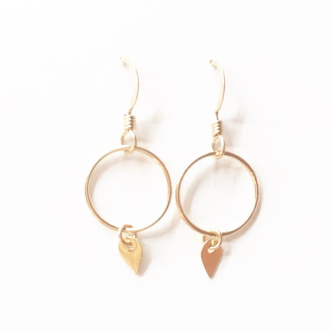 Pike & Circle Dangle Earrings
