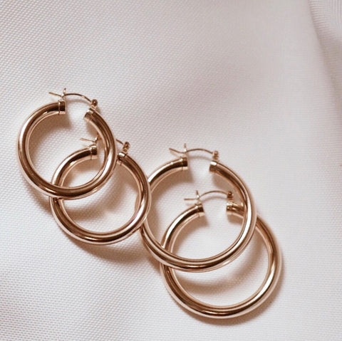 Thick Hoop Earrings