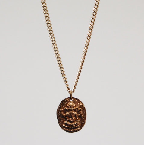 Ganesh Coin Pendant Necklace