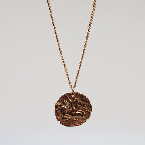 Pegasus Coin Pendant Necklace
