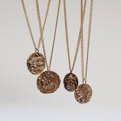 Lion Coin Pendant Necklace