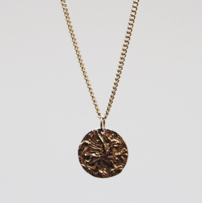Griffin Coin Pendant Necklace