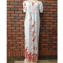 Load image into Gallery viewer, 2018 african women clothing fashion africaine robe short sleeve printing long loose stripe maxi dress africa clothes