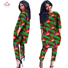 Load image into Gallery viewer, African Clothes 2 Pieces Set Print Dashiki African Clothes for Women Cotton Batik African Ankara Tops for Women Plus Size