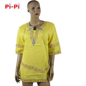 SALE African Dashiki Riche Traditional Embroidery Dress Short Sleeved Short Skirt Natural Linen Material Production