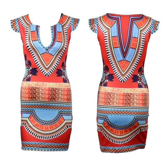 African Dresses for Women Clothes Bazin Printed Traditional Clothing Dashiki Print Dresses African Lady Women African Clothes