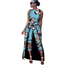 Load image into Gallery viewer, African Clothes for Women 2019 Sleeveless Top and Mid Calf  Trousers 2 Pieces Sets  Danshiki Bazin Riche Ladies Clothing