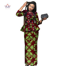 Load image into Gallery viewer, new africa dashiki skirt set african traditional clothing for women Bazin Riche plus size skirt set print ladies clothes WY3887