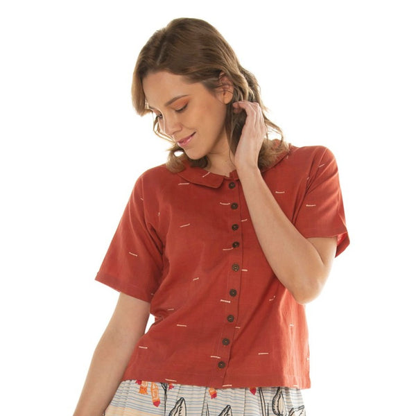 Collared Raglan Top