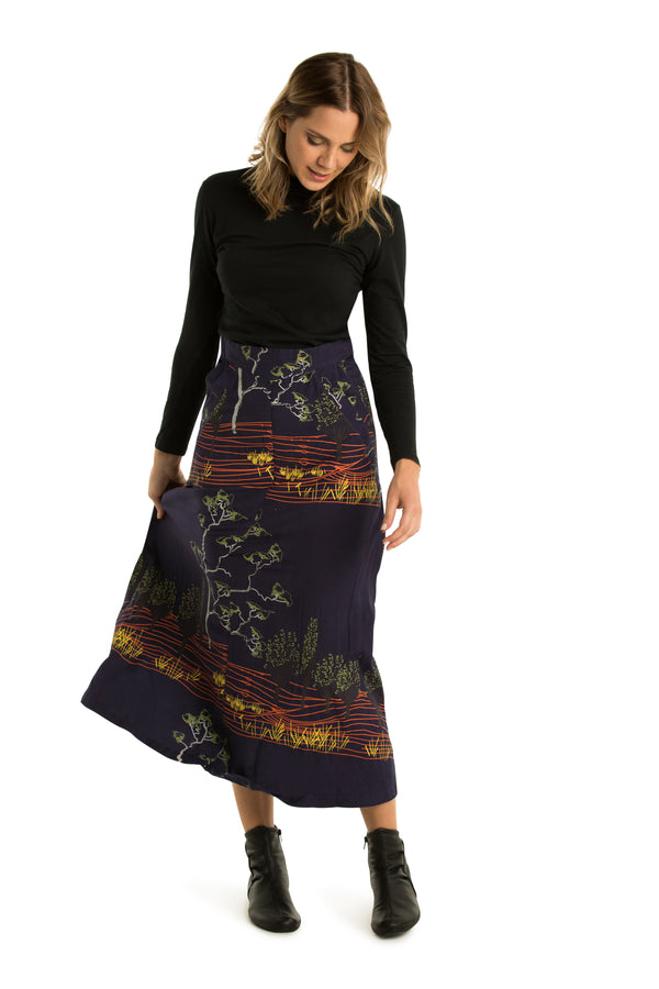 Full A-line Skirt, Printed