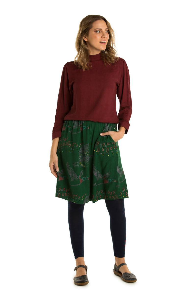Gathered Skirt relaxed waist- Pre-order