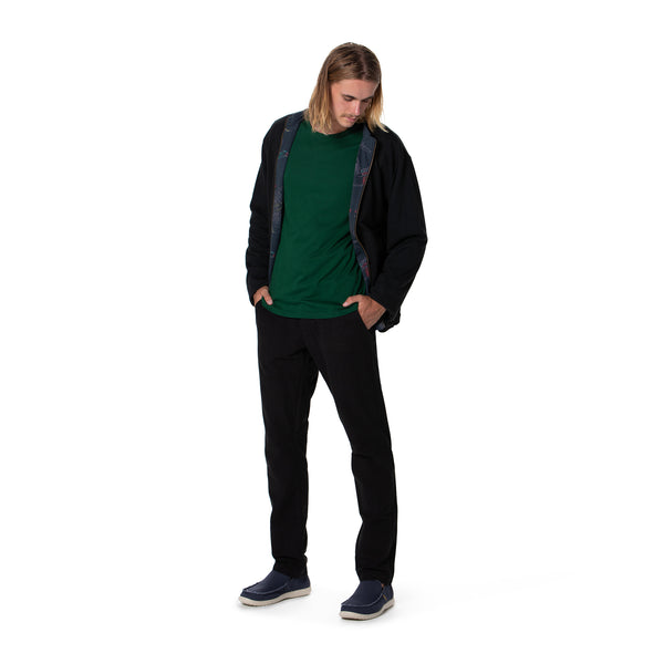 Reversible Bamboo Fleece Jacket- Mens version