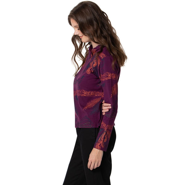 Vneck Top - Long Sleeved Top - Printed