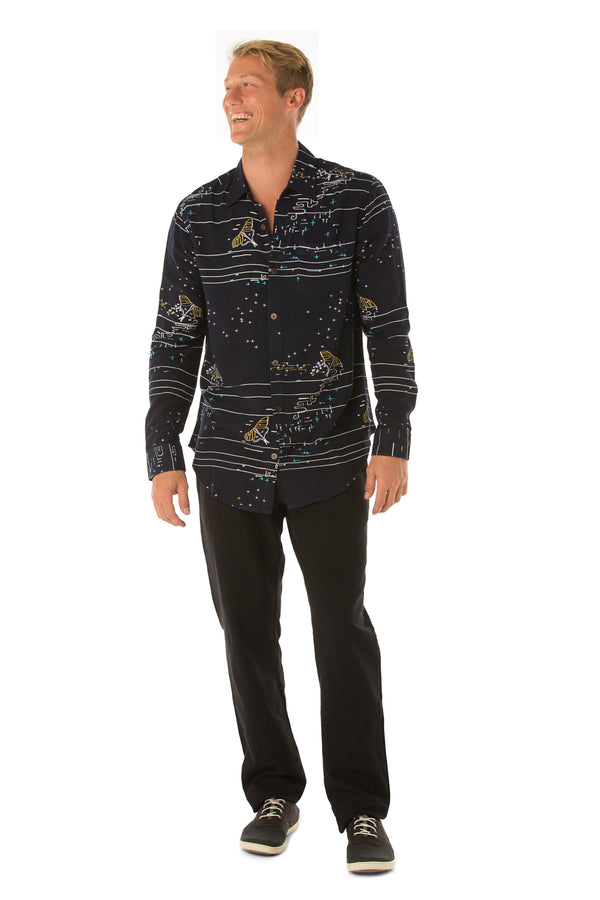 Mens L/S Bamboo shirt