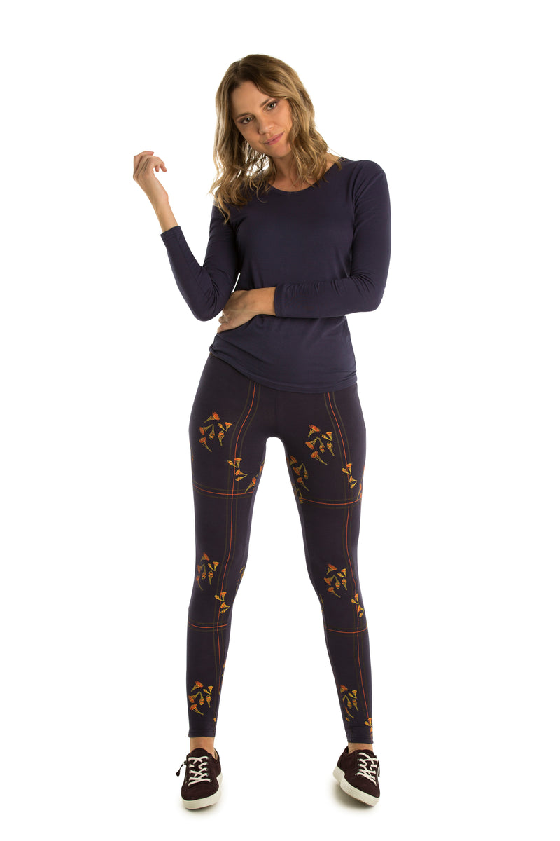 Leggings : bamboo and organic cotton : Plain and Printed