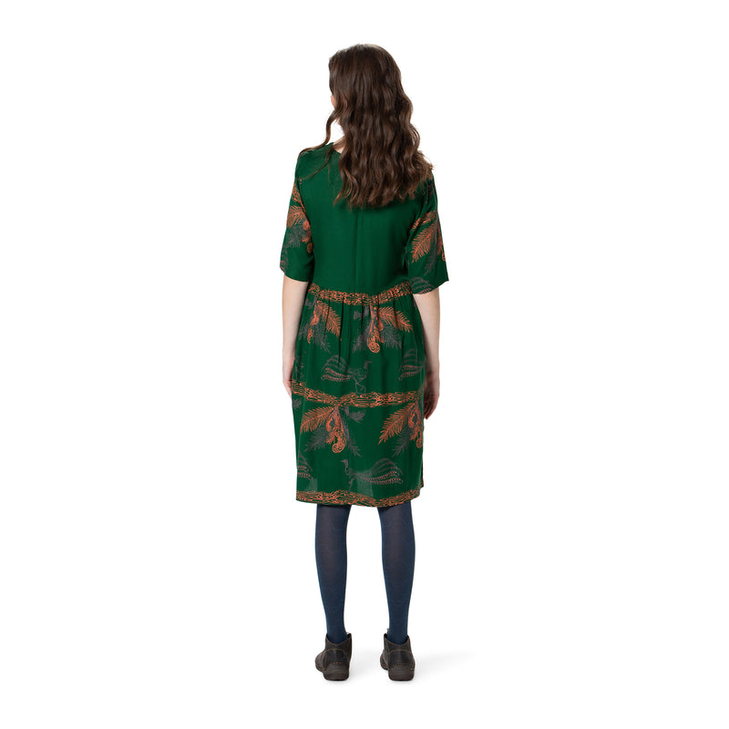Panelled Dress - bamboo and organic cotton - Printed
