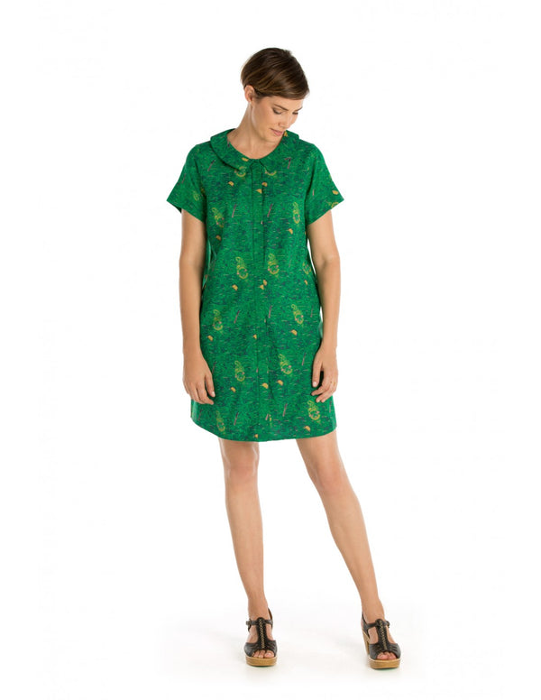 Shirt Dress - Short Sleeve, Knee length