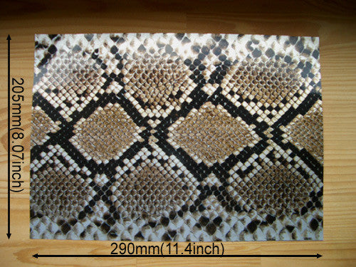 Faux-Leather Sticker /Snake Skin (Brown) - Inlay Stickers Jockomo