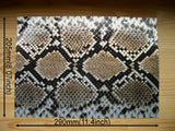 Faux-Leather Sticker /Snake Skin (Brown)