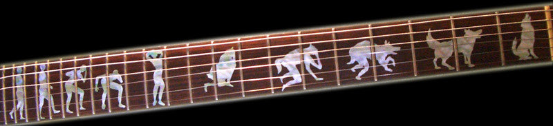 Metallica James Hetfield Man To Wolf Werewolf Fret Markers Inlay Sticker Guitar - Inlay Stickers Jockomo
