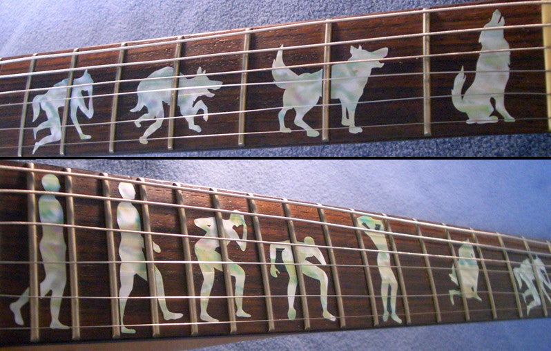 Man To Wolf / Werewolf James Hetfield (Metallica) - Inlay Stickers Jockomo