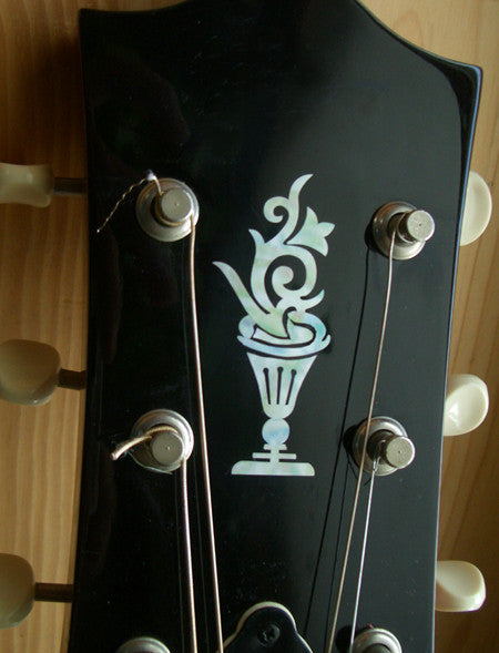 Flower Pot Inlay Sticker Guitar Bass Headstock