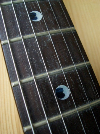 "Crescent Moon Dots 5/16""(6.35mm) Fret Markers Inlay Stickers Decals - Inlay Stickers Jockomo"