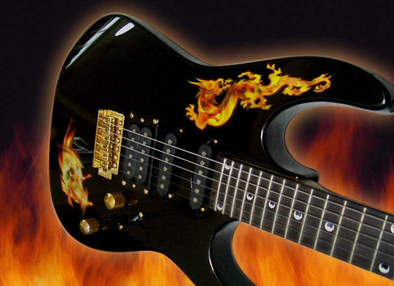 Real Fire Flame-Dragon Inlay Stickers Decals Guitar Bass - Inlay Stickers Jockomo