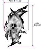Real Fire Flame-Skull Inlay Stickers Decals Guitar Bass