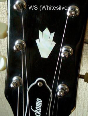 Closed Crown Inlay Stickers Decals Headstock Peghead