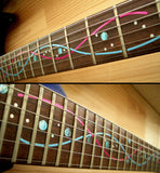 DNA Line/Steve Vai Fret Markers Inlay Stickers Decals Guitar - Inlay Stickers Jockomo