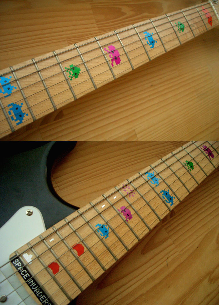 Space Invaders - Fret Markers Inlay Stickers - Inlay Stickers Jockomo