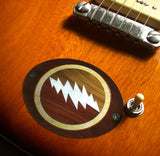 Jerry Garcia / Lightning Bolt Inlay Stickers Decals Grateful Dead - Inlay Stickers Jockomo