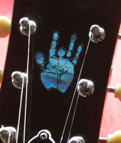 Jerry Garcia / Hand Inlay Stickers Decals Guitar Bass