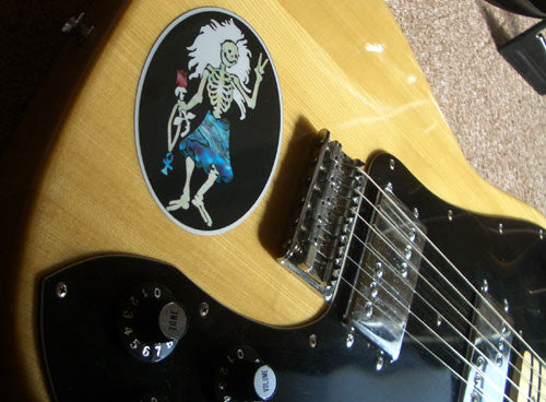 Jerry Garcia / Rosebud Dancing Skeleton Inlay Stickers Decals - Inlay Stickers Jockomo