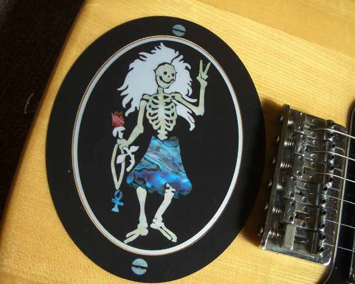 "Rosebud ""Dancing Skeleton"" / Jerry Garcia Grateful Dead - Inlay Stickers Jockomo"