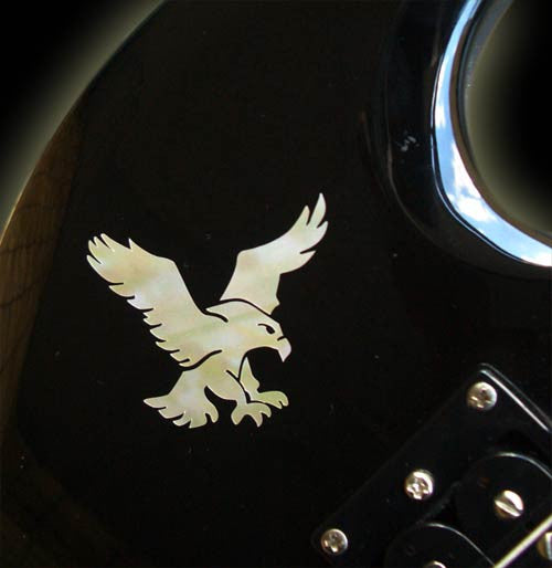 Jerry Garcia's Eagle (White Pearl) Inlay Sticker - Inlay Stickers Jockomo